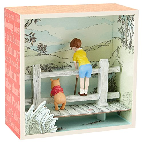 Hallmark Winnie the Pooh and Christopher Robin on a Bridge S