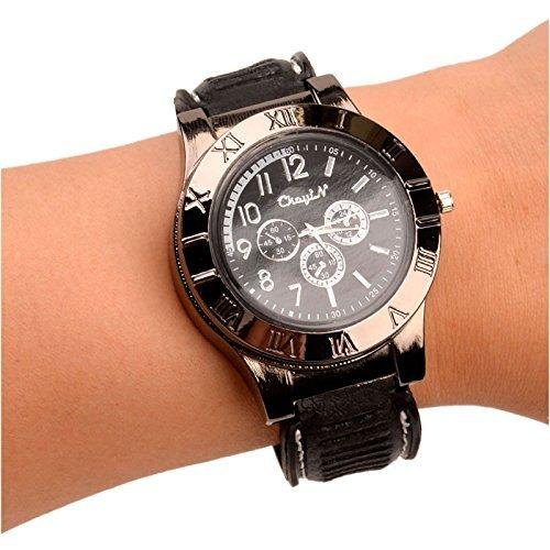 New Military USB Lighter Watch Men's Casual Wristwatches with Windproof Flameless Cigarette Cigar Lighter (Gun ()