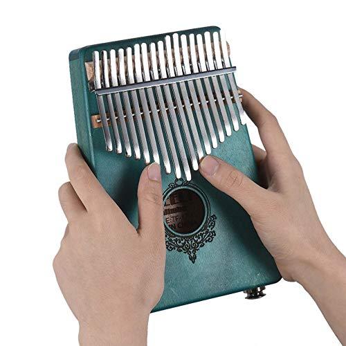 Kreative 17 Schlüssel Schlüssel Schlüssel Kalimba Daumen Klavier Taschenformat Finger Klavier für Anfänger Kinder Holz Musikinstrument 032bb6