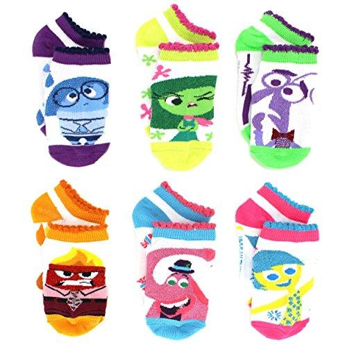 Inside Out Girls 6 pack Socks (4-6, White Lurex Multi) ()