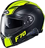 HJC F70 Full Face Motorcycle Helmet with Smart HJC 10B Bluetooth Headset Mago MC3HSF Small