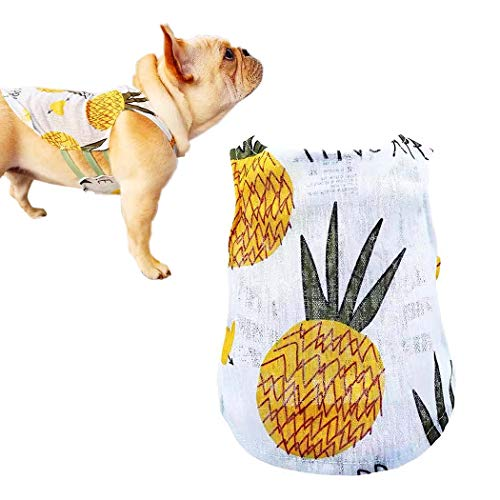 Petea Pet Clothes Dog Cat Summer Pineapple Fruits Vest Cute Puppy Apparel for Dogs and Cats