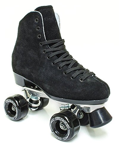 Sure-Grip 1300 Black Suede Roller Skates ()