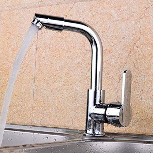 HXC-HXC 水タップシングルハンドルの蛇口シンクシングルハンドルの二つの穴ミキサータップモダンなキッチンバーシンクの水の蛇口クロームは回転可能な流域の蛇口タップをポリッシュ 蛇口