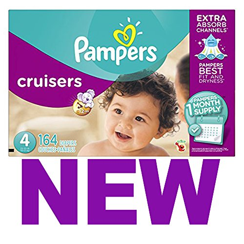 Pampers Cruisers Diapers Size 4, 164 Count (One Month Supply)