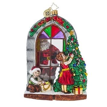 Amazon.com: Christopher Radko Preparing for Christmas Santa and ...