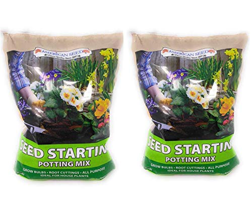 P2P Seed Starting Potting Soil Mix ~ All Purpose Ideal for House Plants, Bulbs, Cuttings and Seedlings .2 LB Bag (Set of 2) Including (Bonus: Nomi's Mini Garden Fairy) ()