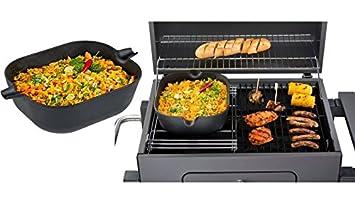 Tepro Holzkohlegrill Toronto Click : Tepro guss wok einleger für rost in system eckig schwarz