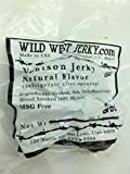 Wild West Jerky #1 Best Premium 100% Natural Grass Fed Hand Stripped 2 OZ. Thick Cut Delicious Tasty Bold Flavor Venison (Deer) Jerky from Utah USA - Wood Smoked with Hickory Wood (Natural 1 Pack)