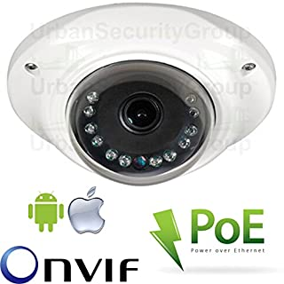 USG 4MP Ultra HD IP Network Dome Security Camera : 3.6mm Wide Angle Lens : Power Over Ethernet : ONVIF : Outdoor & Indoor Rated Low-Profile Dome : 12x IR LEDs : Phone App