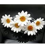 TOOKY 12pcs wedding white daisy flower hair pin hair flower pins