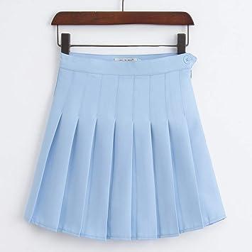 HEHEAB Falda,La Primavera Y El Verano Azul Mujeres Coreanas De ...