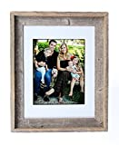 BarnwoodUSA 16X20 Inch Signature Picture Frame for 11X14 Inch Photos - 100% Reclaimed Wood, Gray Mat