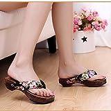 Tootu Fashion Casual Platform Shoes Wood Women