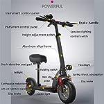 TYXTYX-Monopattino-Elettrico-Pieghevole-Potente-Motore-da-500W-Batteria-con-Autonomia-Fino-a-100km-velocit-Massima-a-40kmh-Pneumatico-Airless-Antiurto-da-10-Scooter-per-Adulticon-Sedile
