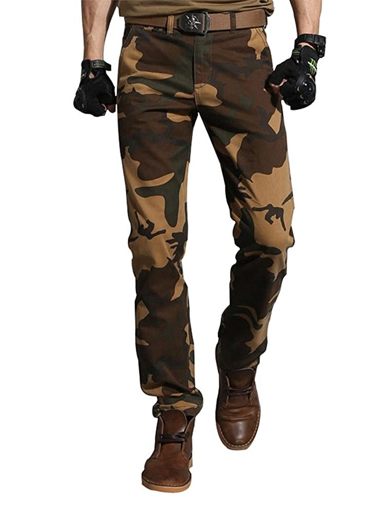 Addt Must Way Men's Cotton Rip Stop Military Cargo Pants Wild Camo Hunting Combat Trousers Addt-8005