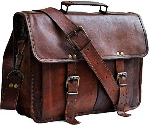 13 genuine leather distressed mens laptop bag leather messenger bag for men women shoulder bag satchel