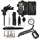 Professional 11 in 1 Emergency Survival Gear Kit Outdoor Survival Tool with ...