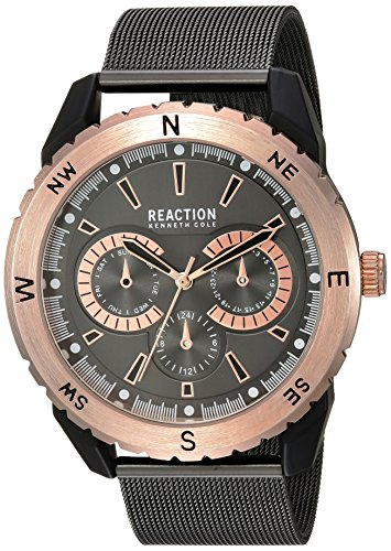 Kenneth Cole REACTION Men's 'Sport' Quartz Metal and Stainless Steel Casual Watch, Color:Grey (Model: 10030938)
