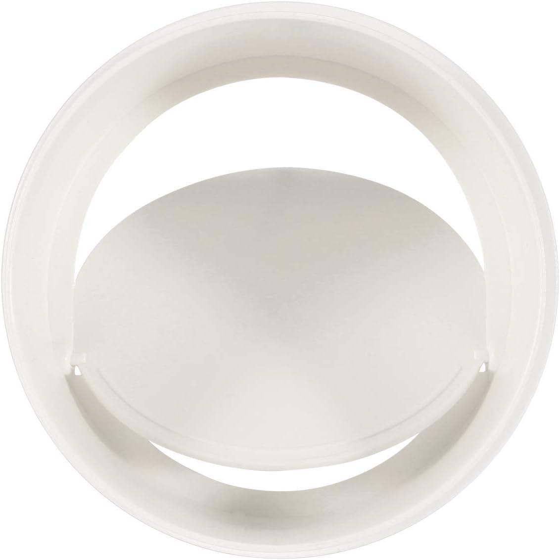 Hon&Guan 6 Inch Plastic Back Draft Damper, Draft Blocker Damper Inline for Extractor Fan Vent Back Draught Shutter (150 mm)