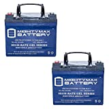12v deep cycle battery pack - Mighty Max Battery 12V 35AH GEL Battery for U1 One New Wheelchair Deep Cycle - 2 Pack brand product