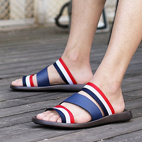 vera pelle vera pelle sandali Antiscivolo sandali estate sandali Uomini Tempo libero sandali Spiaggia sandali ,blu,US=8,UK=7.5,EU=41 1/3,CN=42
