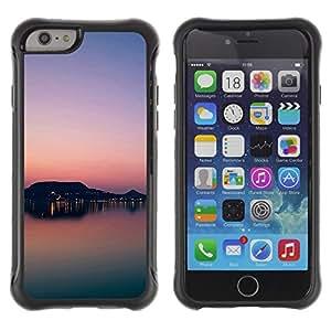 Pulsar Defender Series Tpu silicona Carcasa Funda Case para Apple iPhone 6 Plus(5.5 inches), Sunset Beautiful Nature 81