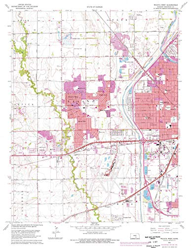 (YellowMaps Wichita West KS topo map, 1:24000 Scale, 7.5 X 7.5 Minute, Historical, 1961, Updated 1976, 26.79 x 20.72 in - Paper)