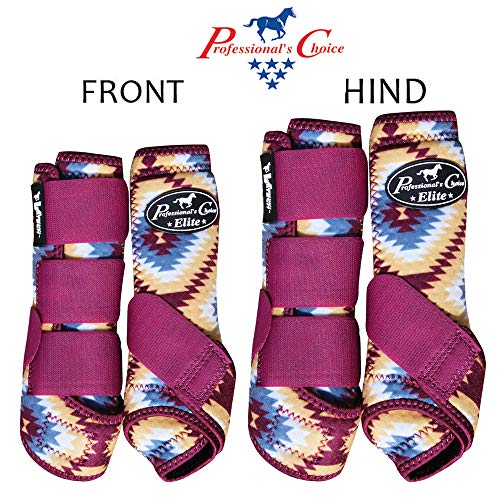 Professional Choice Small VENTECH Elite Horse Sports Medicine Boots 4 Pack Aztec ()