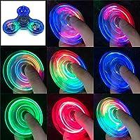 Gyro Spinner Lichtgevende LED licht Fidget Spinner Hand Top Spinners Glow in Dark Light EDC Figet Spiner Vinger Stress…