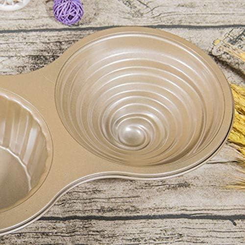 WOVELOT Stampo//Stampo per Cupcake Gigante in Acciaio al Carbonio Stampo per Cupcake Grande Stampo per Cupcake Jumbo in Rilievo Grigio Scuro