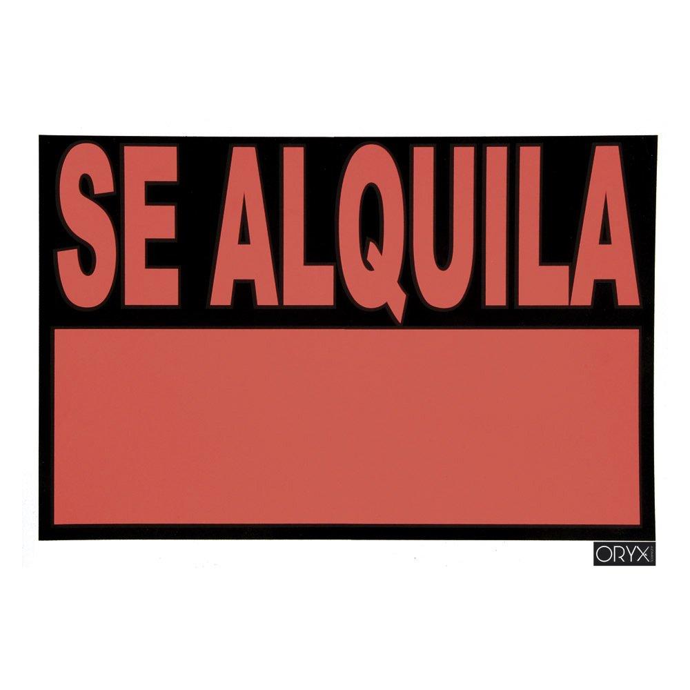Oryx 15056005 Cartel Se Alquila 70x50 cm, Negro, 70 x 50 cm ...