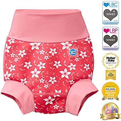 Splash About Kids Reusable Swim Happy Nappy 0-4 Months Pink Blossom, Small
