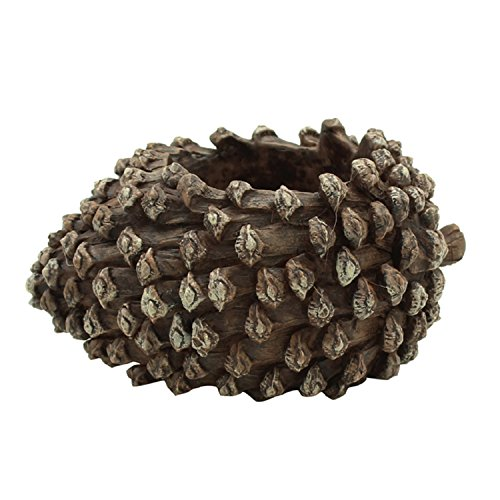 (Resin Succulent Pots - Handmade Pinecone Shape Flower Pot for Home Garden Decor, 4.72 x 3.14 x 1.96 in, Brown)