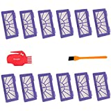 12pcs Neato XV-21 XV Signature Pro Filters 1pcs Neato Brush Cleaning Tool Comb , Hongfa Replacements for Neato XV-21,XV-11 ,XV-12 Pet & Allergy Vacuum Cleaner Parts