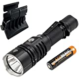 Acebeam L16 Cree XHP35 Hi LED Tactical Rechargable Flashlights -2000 Lumens w/Battery & AWM-03 Magnetic Gun Mount