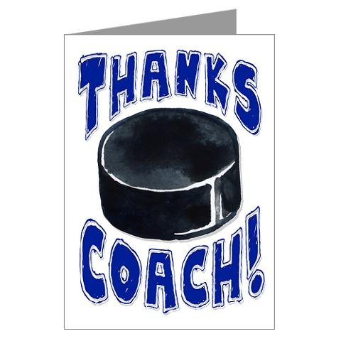 HOCKEY 3-PACK Thanks Awesome HOCKEY Coach! SPORTS POWERCARD Greeting Cards (5x7) Perfect for youth sports - inspiring team coach gifts, season party, big games or anytime to express Thank You! - C