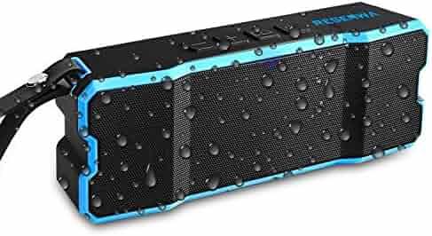 Reserwa Bluetooth Speakers IPX6 Waterproof Dustproof Shockproof Superior 3D Stereo Speakers with Dual-Driver and Built-in Mic Wireless Speakers 33-Foot Bluetooth Range Portable Speaker