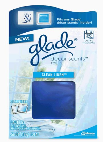 Glade Décor Scents Refill, Clean Linen, 0.56 Ounce (Pack of 2)