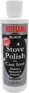 Rutland Products Stove & Grill Liquid Stove Polish, 8 fl oz, Black