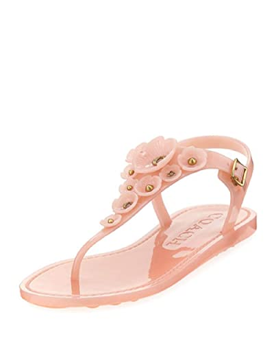 eca4ba0d1e2 Coach Tea Rose Jelly Flat Sandals