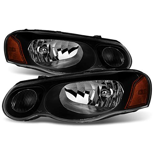 Xtune for 2004-2006 Sebring Sedan/Convertible Black Direct Fit Headlights Assembly L+R Pair Left+Right/2005