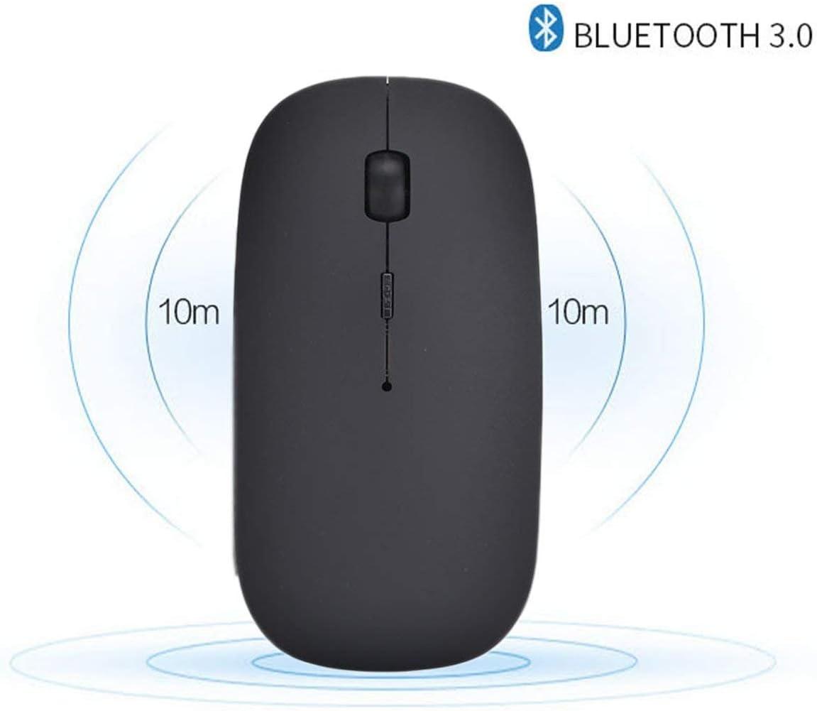 Tablette Windows//Android Ordinateur Souris sans Fil Bluetooth 4.0 Rechargeable Portable Wireless Mouse Mini Souris avec 3 Valeurs DPI R/églables pour Ordinateur Portable PC Argent