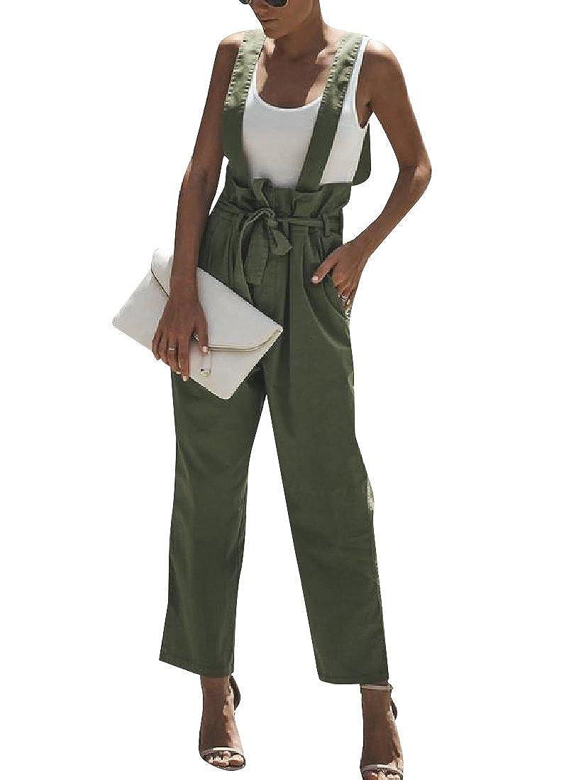 SportsX Women Bib Over Waist Overalls Suspenders Pant Trousers Long Pants