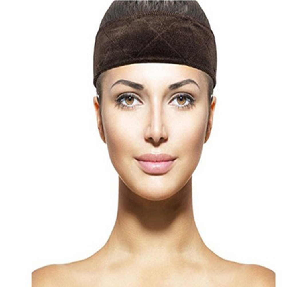 Wig Grip Headband Comfort Wig Gripper Band Hair Fastener Wig Grip Band 2pcs (Brown + Beige)