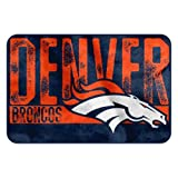 The Northwest Company NFL Denver Broncos Embossed Memory Foam Rug, One Size, Multicolor