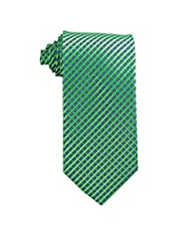 Youth Tie (Age 8-14 years old) Lime Green and Pool Blue Stripe Tie for boys age 8-14