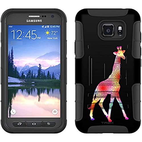 Samsung Galaxy S7 Active Armor Hybrid Case Tye-Dye Giraffe 2 Piece Case with Holster for Samsung Galaxy S7 Active Sales