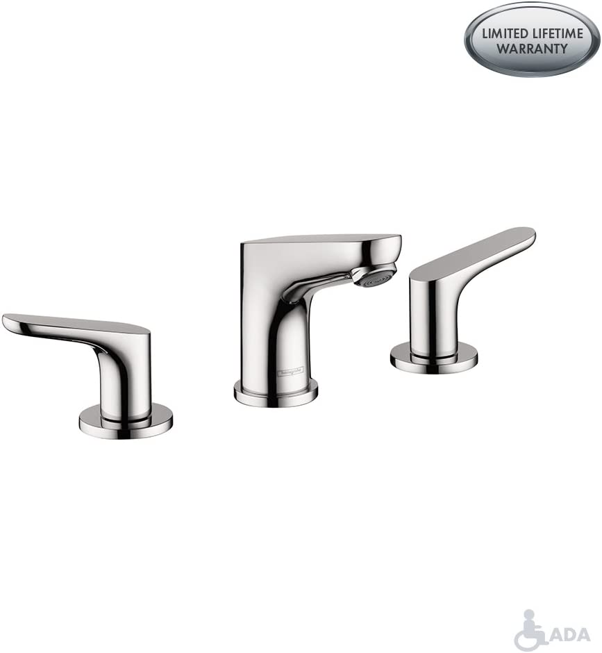 hansgrohe Focus Modern Widespread Easy Clean 2-Handle 3 5-inch Tall Bathroom Sink Faucet in Chrome, 04369000 - Bathtub Faucets -