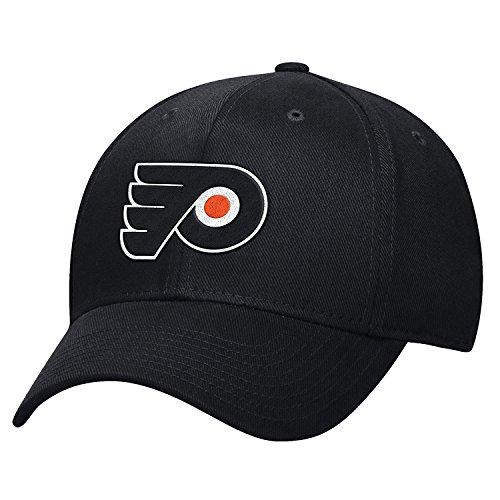 NHL Philadelphia Flyers Men's Basic Pro Shape Flex Cap, Small/Medium, Black ()